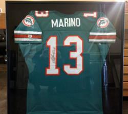Framed Dan Marino jersey